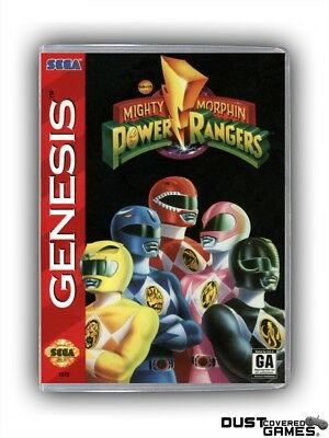 Mighty Morphin Power Rangers GEN Genesis Game Case Box Cover Brand New Quality!!