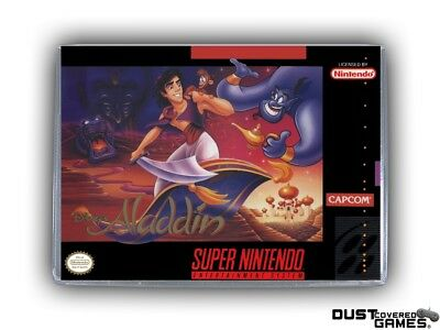 Aladdin SNES Super Nintendo Game Case Box Cover Brand New Professional Quality!!