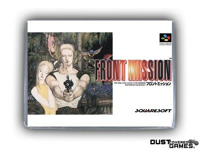 Front Mission SNES Super Nintendo Game Case Box Cover Brand New Pro Quality!!!