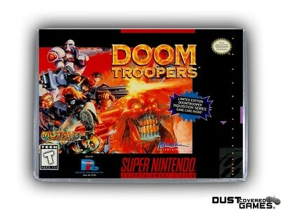 Doom Troopers: Mutant Chronicles SNES Super Nintendo Game Case Box Cover New Pro