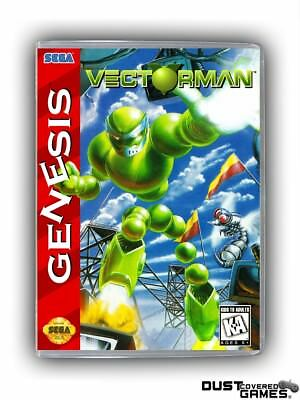 Vectorman GEN Genesis Game Case Box Cover Brand New Professional Quality!!!
