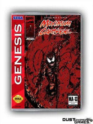 Maximum Carnage GEN Genesis Game Case Box Cover Brand New Professional Quality!!