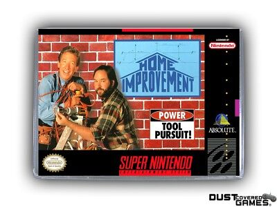 Home Improvement SNES Super Nintendo Game Case Box Cover Brand New Pro Quality!!