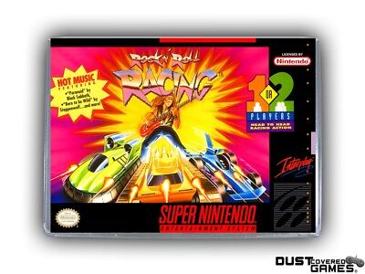 Rock 'N Roll Racing SNES Super Nintendo Game Case Box Cover Brand New Quality!!!