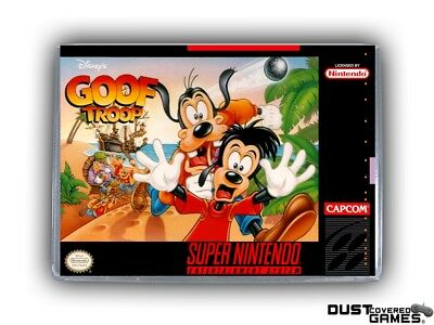 Goof Troop SNES Super Nintendo Game Case Box Cover Brand New Pro Quality!!!