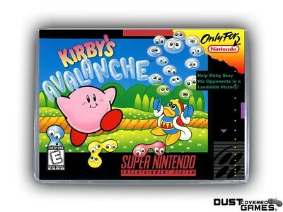 Kirby's Avalanche SNES Super Nintendo Game Case Box Cover Brand New Pro Quality!