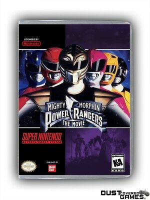 Mighty Morphin Power Rangers - The Movie SNES Super Nintendo Game Case Box Cover