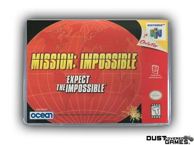 Mission Impossible N64 Nintendo 64 Game Case Box Cover Brand New Pro Quality!!!