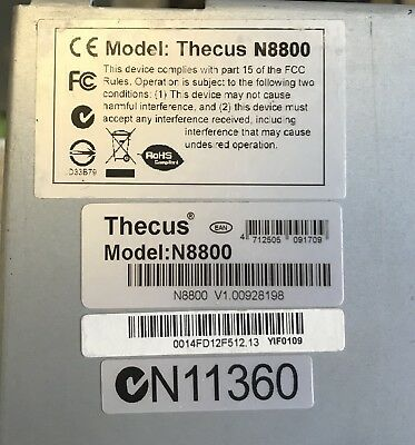 Thecus N8800 8 Bay NAS with 7 X 3TB HD Drives