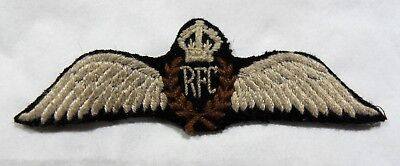 British -Canadian  Rfc Wing Old Copy Reproduction Not Original