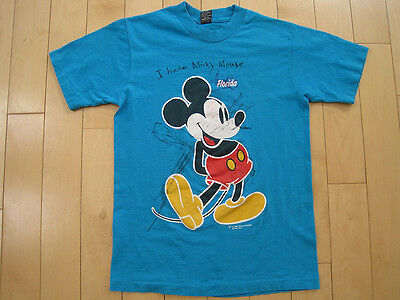 GREATEST!! 80s vintage I HATE MICKEY MOUSE T SHIRT florida DISNEY small