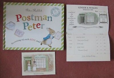 Peter Rabbit Postman Peter Beatrix Potter book with envelopes and letters