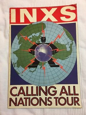 INXS 1988 Calling All Nations Tour Vintage Concert Program Book official