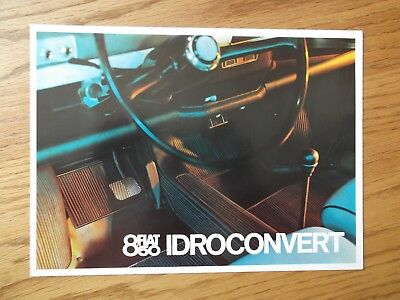 Fiat 850 Idroconvert Showroom Dealership Brochure. 1960's ?????