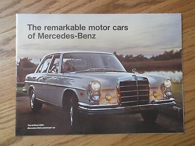 1967 Mercedes Benz Showroom Dealership Brochure.200-230-250-600. Fold Out Poster