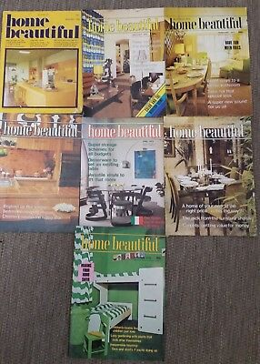 RETRO MAGAZINES x 7 - HOME BEAUTIFUL DATING 1975 + 1978 - EXCELLENT CONDITION.