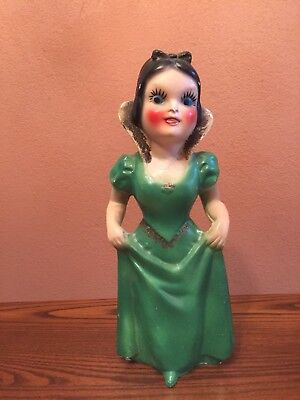 Vintage Snow White Chalkware Disneyana Snow White Doll Collectible Disney