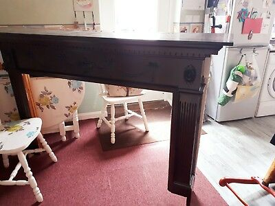 Beautiful old ornate fireplace mantlepiece, surround solid wood