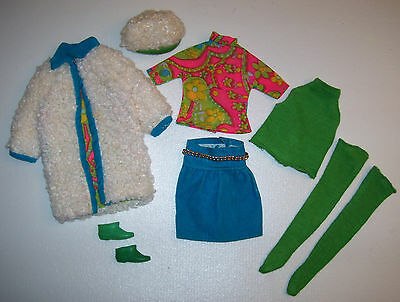 Vintage Francie Doll #1234 THE COMBINATION Mod Complete Outfit HTF 1969-1970