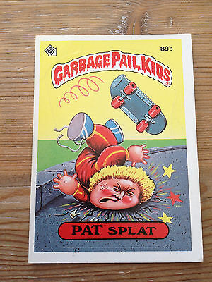 Garbage Pail Kids 1986 Series 3 - 89b PAT SPLAT Glossy Back (1 of 2)