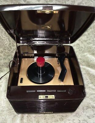Restored Vintage 1953 Rca 45 Rpm Model 45Ey3 Record Player