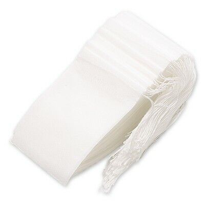 100 Pack Disposable Tea Filter Bag Empty Bags Drawstring Loose Bag,7x9CM R9W3