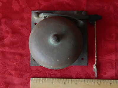Vtg Pull Rod BOXING BELL SCHOOL FIRE ALARM MANUAL TRIP BELL For Repair