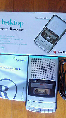 Radio Shack CTR-121 Cassette Tape Recorder Player VOX with Box and Manual.