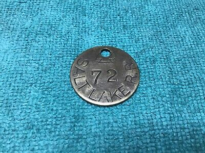 Original Vintage Salt Lake R. R. Railroad Brass Baggage Tag