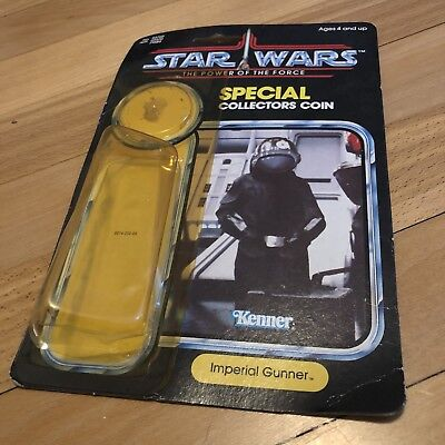 Vintage Star Wars POTF 1984 Imperial Gunner Card & Empty Attached Bubble Last 17