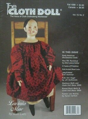 The Cloth Doll - Fall 1998 Vol. 13 No. 2 - Patterns included with issue.
