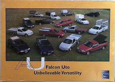Ford Falcon AU Ute Cab Chassis Showroom Poster See also Brochure listed