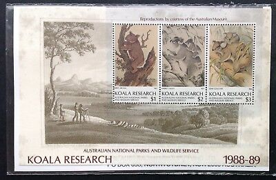 Koala Research Miniature Sheet 1988-89 - Cinderella Item