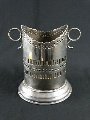 Old English Walker & Hall Silver plate Champagne caddy Pierced Gallery England