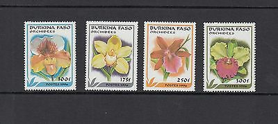 FLORA/ORCHIDS - Burkina Faso   - 1996 set of 4 -(SC 1083-6)-MNH-Z877