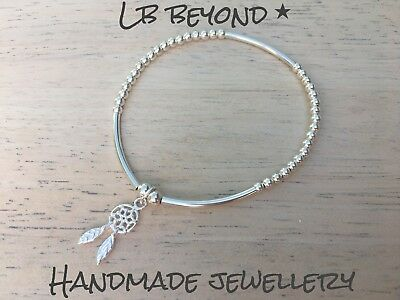 sterling silver bracelet with dream catcher charm