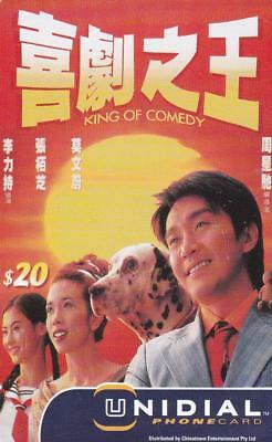 Unidial $20 King Of Comedy With Dog  Phonecard Rare Rare     P7