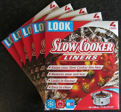 20 Slow Cooker Liners - Pack of 4 x 5 Packs - Free Delivery
