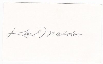 Streets of San Francisco, Patton, Baby Doll etc. - Karl Malden signed autograph