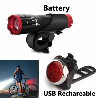 Road Bike Light Set CREE Q Rear 3 LED Lights Cycling Bright Headlight Taillight
