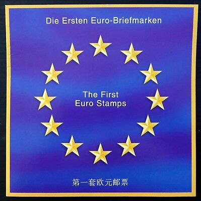 "Europe ""The 1st Euro Stamps"" 12 in Special German International Folder CG37"