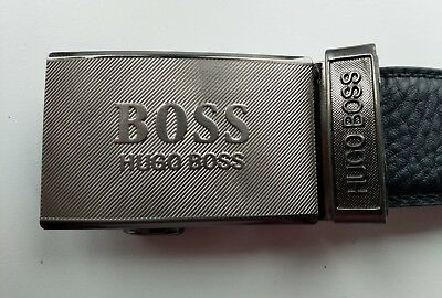 """""""boss - Leather Black Belt, Brand New Without Tags"""