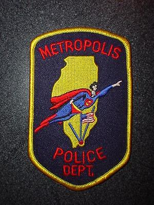 Metropolis Illinois IL Police Patch Superman Comic Book Character New & Unused