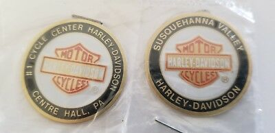 2 Harley Davidson HD Oil Dip Dot Centre Hall Susquehanna Valley PA 1 1/16 inch