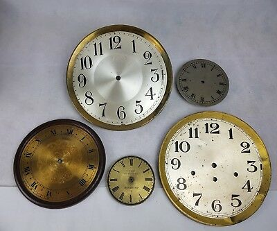 Collection of Vintage  Clock Faces - Spares or Repair - Job Lot