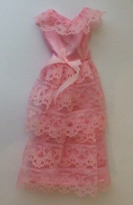Attractive Pink Dress fits Sindy / similar size doll vintage dolls clothes
