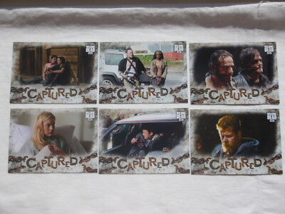 The Walking Dead Road to Alexandria 6 Captured Chase Cards Target Exclusive