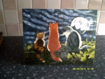 Large Milford collection  tile titled Cat whisper