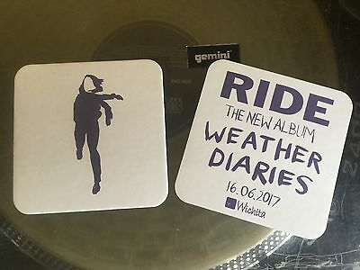 Ride - Weather Diaries. Promotional coasters x2.