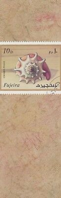 Fighting Conch - Fujeira Postage Stamp on  laminated bookmark